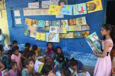 This 9-Year-Old Girl Opened A Free Street Library In India For Illiterate Children