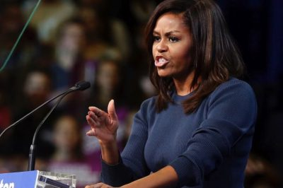 Michelle Obama Chokes Back Tears In Moving Speech About Trump's Disrespect For Women
