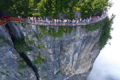 China Opens Mile-High Glass Skywalk And Just Looking At The Photos Will Terrify You