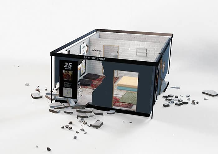ikea surprises shoppers by placing recreated syrian home in store true activist. Black Bedroom Furniture Sets. Home Design Ideas