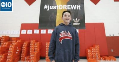 Teen Uses $25K Bar Mitzvah Money To Donate 800 Pairs Of Nike Shoes