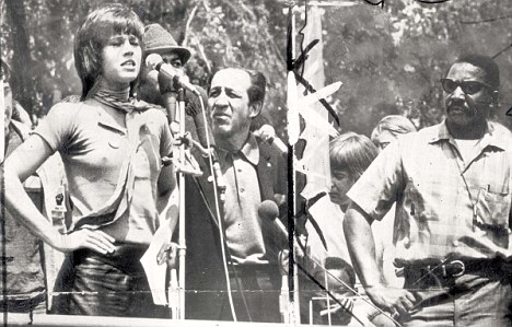 Jane Fonda protesting the Vietnam War Credit: The Daily Mail