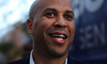 NEWARK, NJ - OCTOBER 15:  Cory Booker, Newark Mayor and Democratic candidate in tomorrow's U.S. Senate special election in New Jersey, campaigns in downtown Newark on October 15, 2013 in Newark, New Jersey. Booker, a 44-year-old African-American, is running against Republican Steve Lonegan who has gained attention for his support from Tea Party members. While the race has been tightening in recent days, Booker still looks to hold a commanding lead against his rival.  (Photo by Spencer Platt/Getty Images)