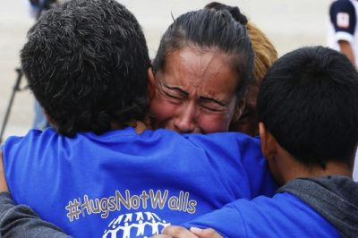 """Hugs Not Walls"" Allowed Family Members To Temporarily Reunite At U.S.-Mexico Border"