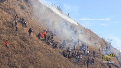 Police Fire Tear Gas On DAPL Protestors As Pipeline Nears Completion