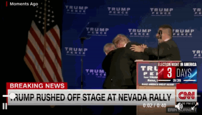 BREAKING: Trump Rushed Off Stage After Alleged Gunman Found In Rally Audience