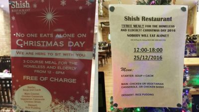 Muslim-Owned Restaurant Is Offering Free Christmas Meals To Elderly And Homeless