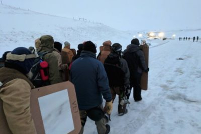 'Shoot At Us First': Veterans Form Literal 'Human Shield' To Protect Standing Rock Protesters From Cops