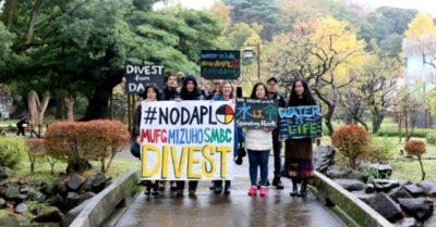 Activists Around The World Take #NoDAPL Fight To The Banks