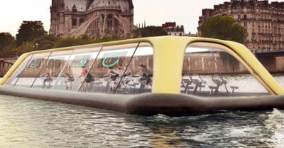 Floating Gym In Paris Relies On Human Energy To Float Down The River