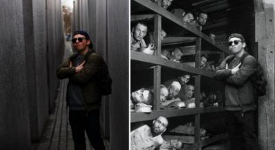 Artist Shames Tourists Who Took Disrespectful Selfies At Holocaust Memorial