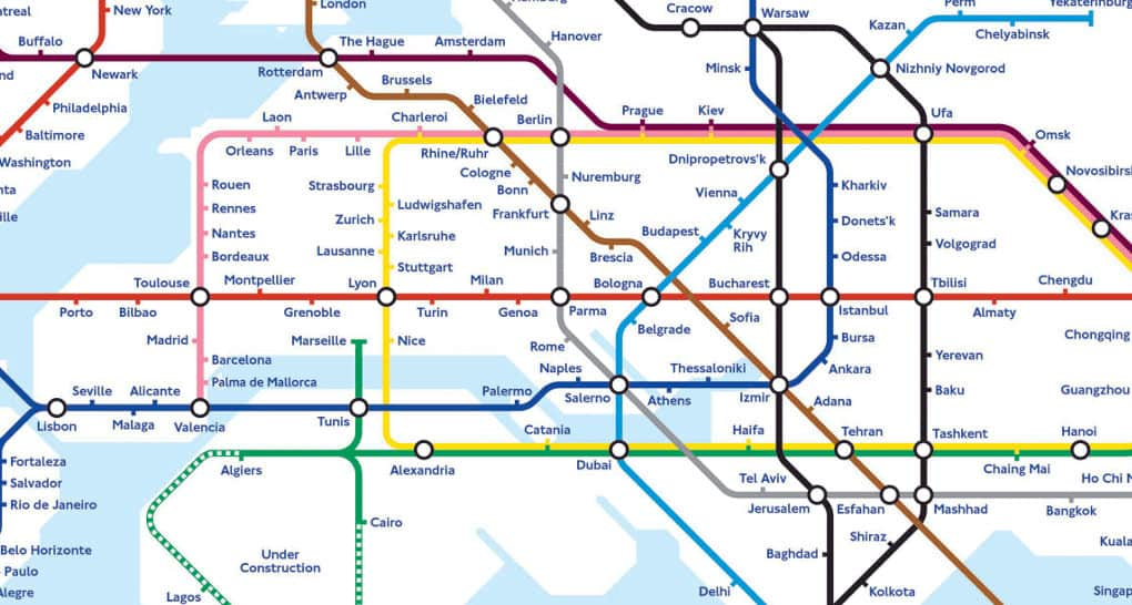 Athens Subway Map.World Subway Map Shows What The Future Of Global Transport Might