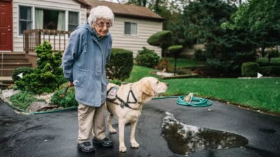 92-Year-Old WWII Vet Refused To Leave Her House Until She Adopted This Dog [Watch]
