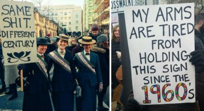 25 Of The Best Signs From Women's Marches Around The World