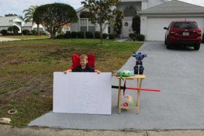 Boy Sets Up 'Free Toy Stand' To Offer Toys To Less Fortunate Neighbors