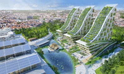 Architect Envisions Former Industrialized Area Transformed Into Futuristic Eco-Village