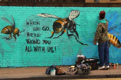 Street Artist Uses Amazing Murals To Highlight Collapse Of Bee Colonies [Photos]