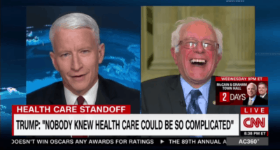Bernie Sanders Busts A Gut Laughing At Claim That 'Nobody Knew Health Care' Is So Complicated