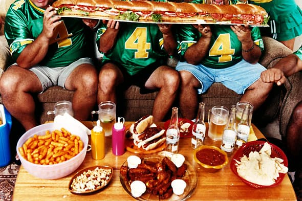 you ll never guess how much food americans consume on super bowl
