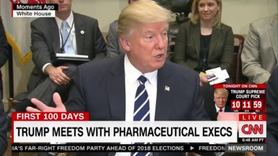 "Trump Demands Big Pharma Lower ""Astronomical"" Drug Prices [Watch]"