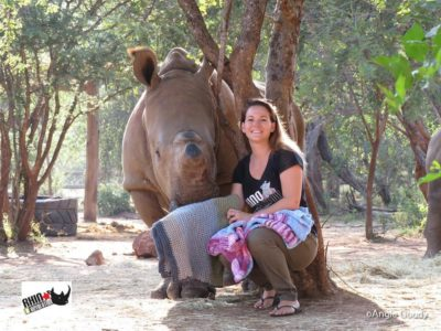 Orphaned Baby Rhinos Receive Hand-Knitted Quilts To Heal And Feel Safe