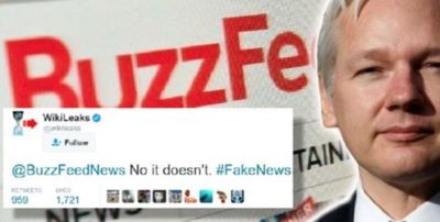 WikiLeaks Just Dismantled A False BuzzFeed Article In One Tweet
