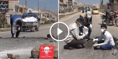 Video Exposes Evidence Tampering At Syrian Chemical Attack Site [Watch]