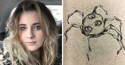 Woman With Schizophrenia Draws Her Hallucinations To Cope With The Illness