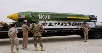 BREAKING: US Drops World's Largest Non-Nuclear Bomb In Afghanistan