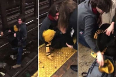 Watch Man Expertly Save Stranger That Fell On The Train Tracks [Video]