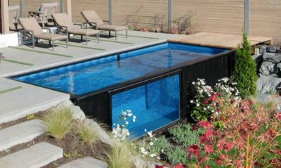 Company Transforms Shipping Containers Into Economical Backyard Pools