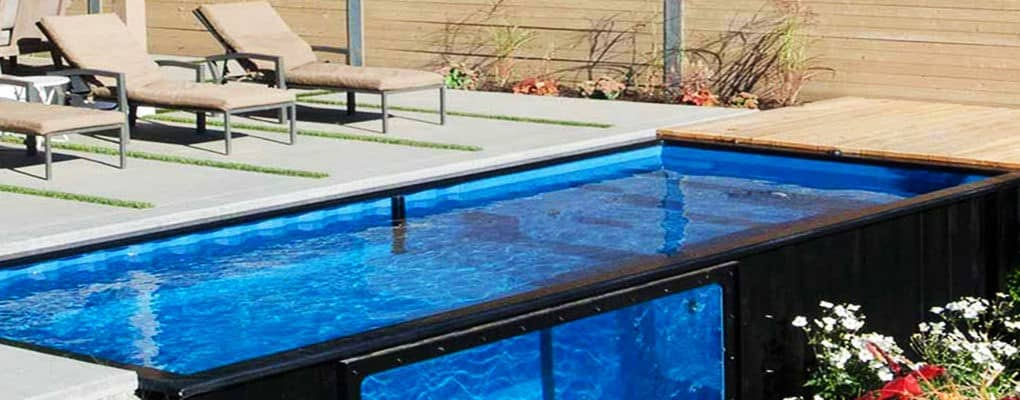Company transforms shipping containers into economical backyard pools true activist - Shipping container pools ...