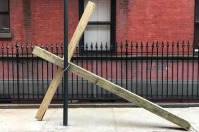 Gay Street Residents Had The Best Response After Finding Huge Cross On Their Block