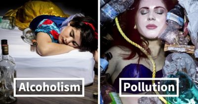 Sobering Photo Series Shows Disney Princesses Struggling With Real-Life Problems