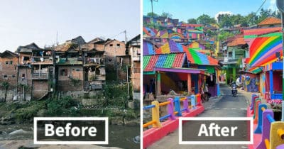 Indonesian Government Spent $23K To Paint Slum Houses And The Result Is Incredible