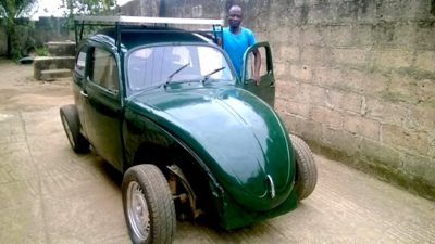 Nigerian Student Designs Wind And Solar-Powered Car From Scraps
