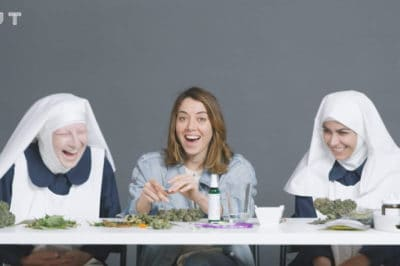 Aubrey Plaza Gets High With Weed Nuns And Talks Spirituality [Watch]