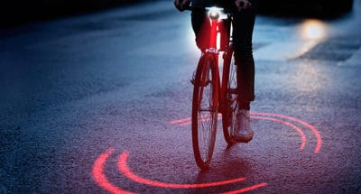 New Bike Lighting System Warns Cyclists And Car Drivers Of Potential Collisions
