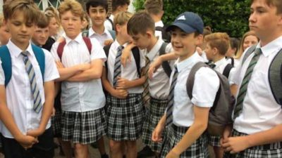 Junior High Boys Win Right To Wear Shorts After Protesting By Wearing Skirts