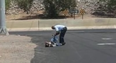 Kind Samaritan Gives Shoes To Man Crawling On Scorching Hot Street [Watch]
