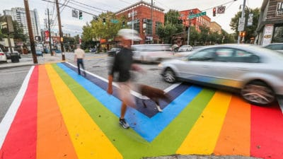 Atlanta Paints The Streets To Honor Anniversary Of Orlando Massacre