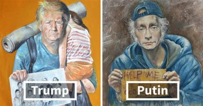 Artist Reimagines World Leaders As Refugees In Powerful New Series