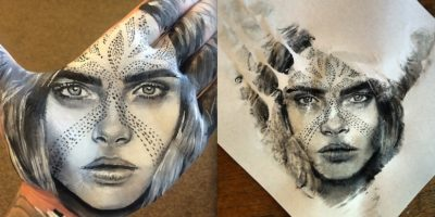 Artist Creates Mesmerizing, Hyper-Realistic Portraits Using Paint And His Hands