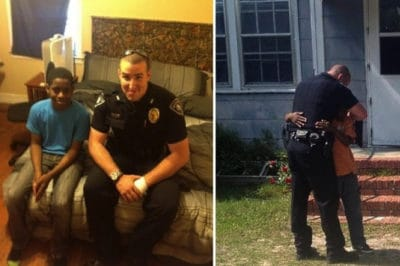 Cop Goes Above And Beyond For Teen After Seeing That His Bedroom Was Empty