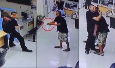 This Thai Officer Talked Down A Knife-Wielding Man Then HUGGED Him [Video]