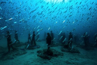 Europe's First Underwater Museum Boosts Marine Biodiversity With Sculptures