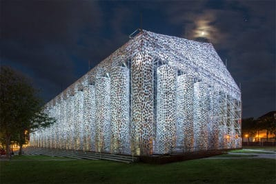 Artist Uses 100,000 Books To Create Full-Size Parthenon At Nazi Book Burning Site