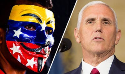 Pence: Venezuela Is Now A Threat To US, Vows To Restore 'Democracy'