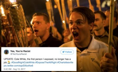 People Are Identifying The Charlottesville Nazis And Getting Them Fired