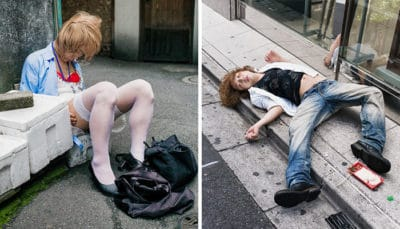10+ Photos of Drunk Japanese People Show The Dark Side Of Alcohol